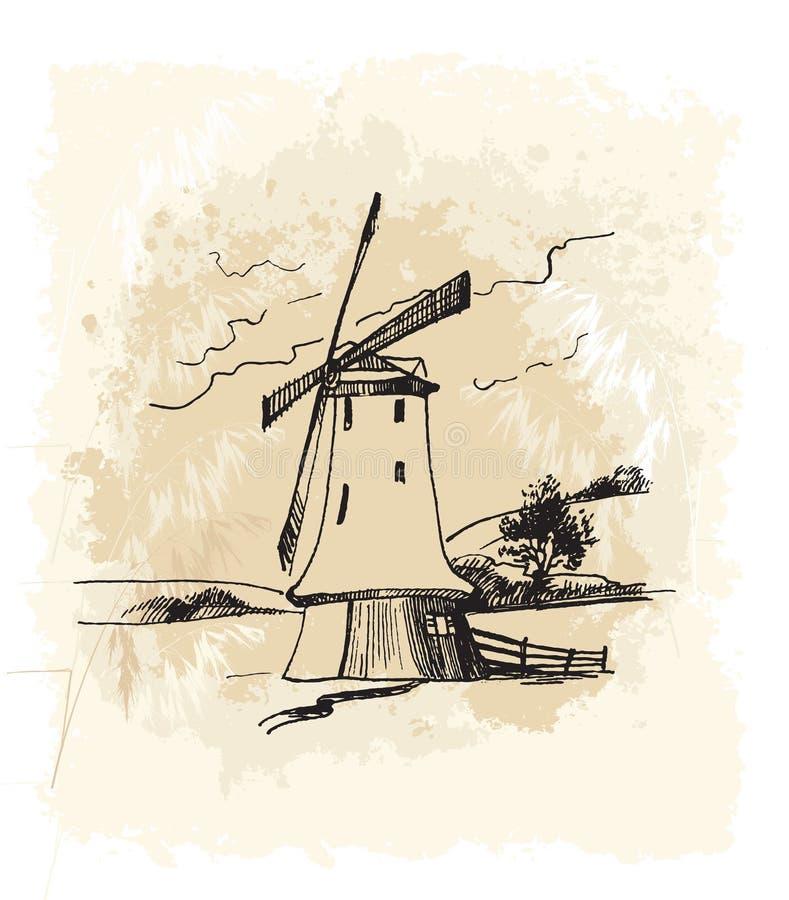 Windmühle 6 vektor abbildung