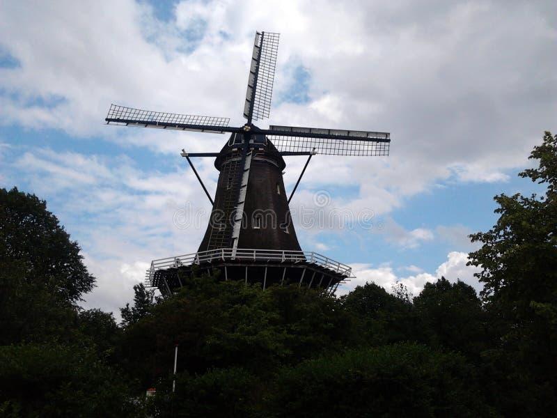 Windmühle in Amsterdam stockbilder