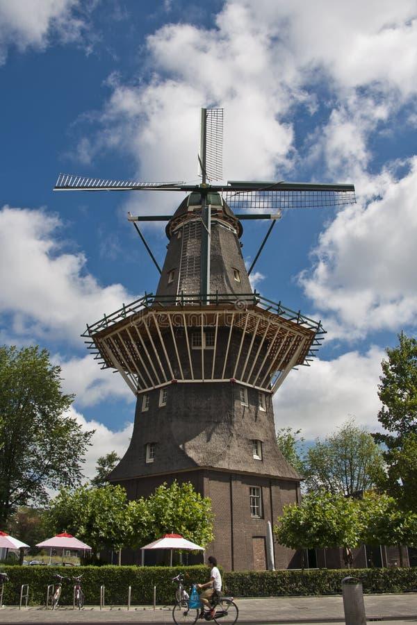 Windmühle in Amsterdam Holland stockfoto