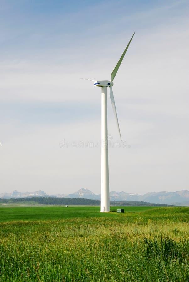 Windmühle auf Grasland stockfotografie