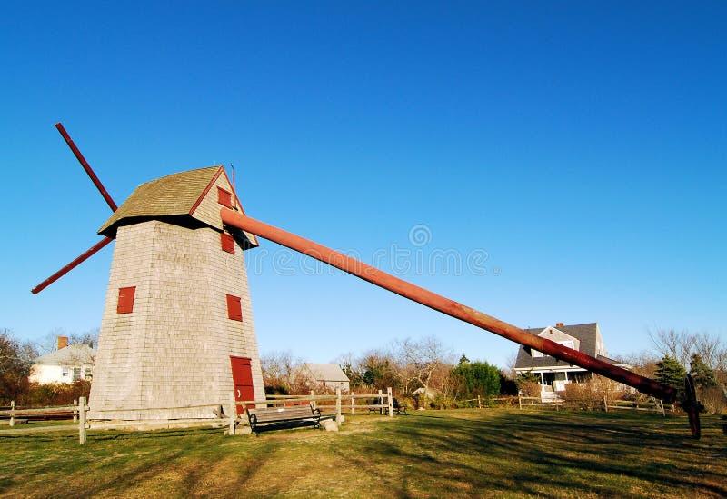 Windmühle auf Nantucket lizenzfreies stockbild
