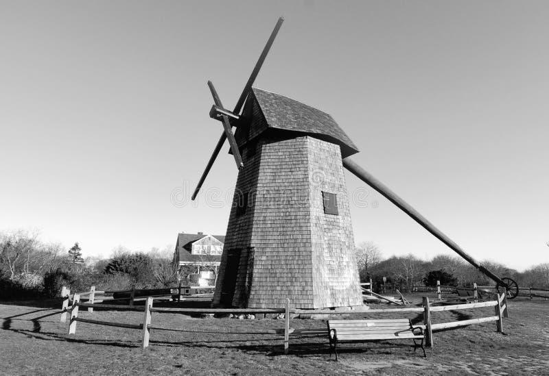 Windmühle auf Nantucket stockbilder
