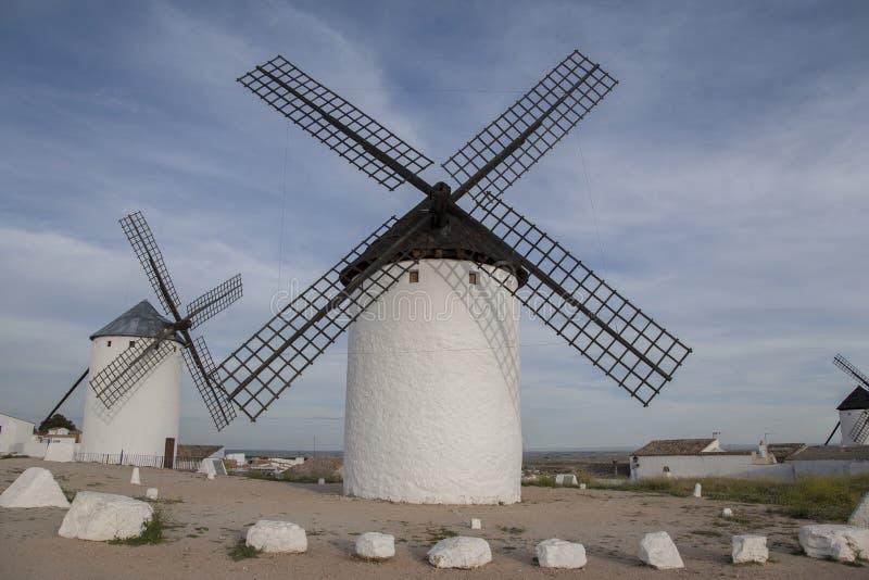 Windmühle, Campo de Criptana lizenzfreie stockfotos