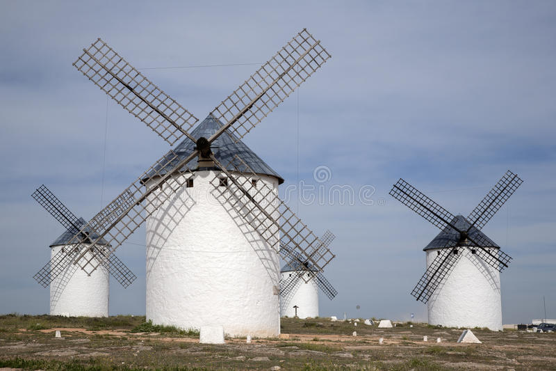 Windmühle; Campo de Criptana lizenzfreie stockfotografie