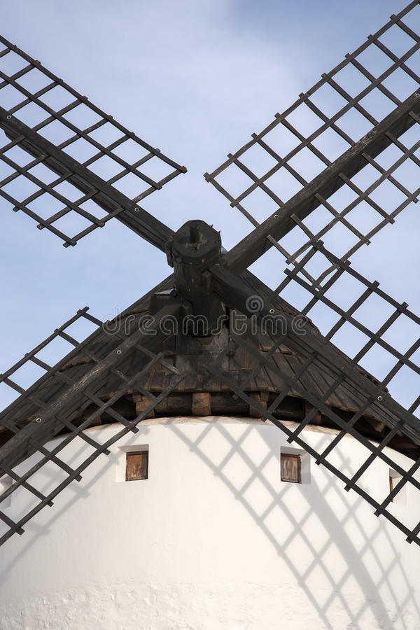 Windmühle, Campo de Criptana lizenzfreie stockfotografie