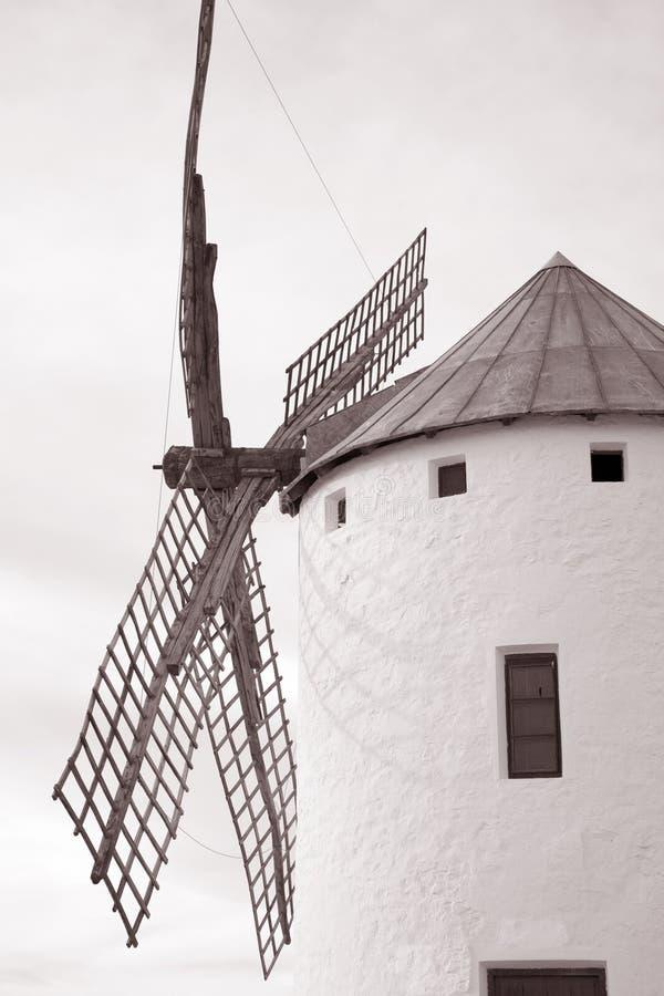 Windmühle, Campo de Criptana stockbild