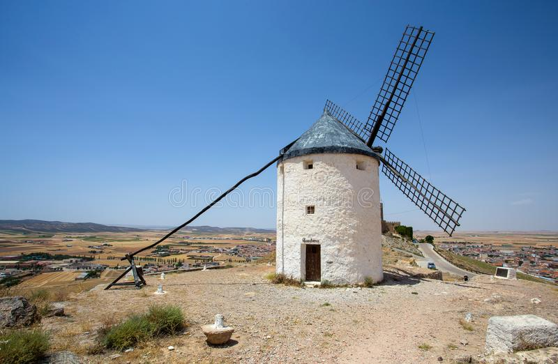 Windmühle in Campo de Criptana La Mancha, Consuegra, Don Quixote-Weg, Spanien stockbild