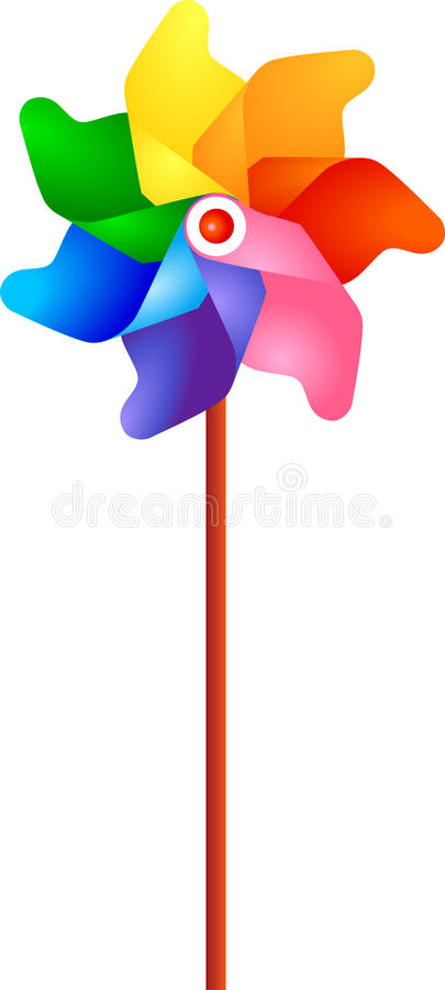 Windmühle der Kinder lizenzfreie abbildung