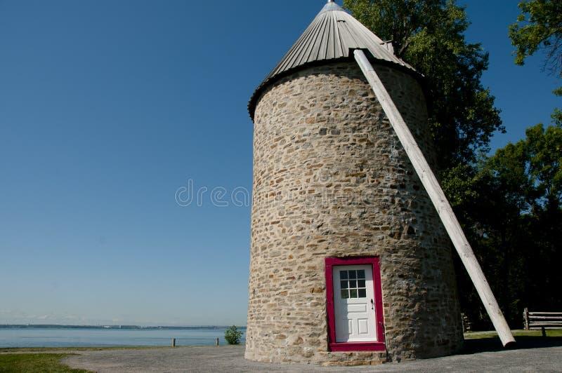 Windmühle - Ile Perrot - Kanada lizenzfreies stockbild