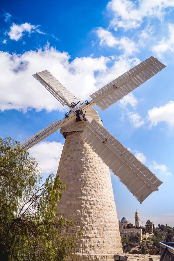 Windmühle in Jerusalem lizenzfreie stockfotografie