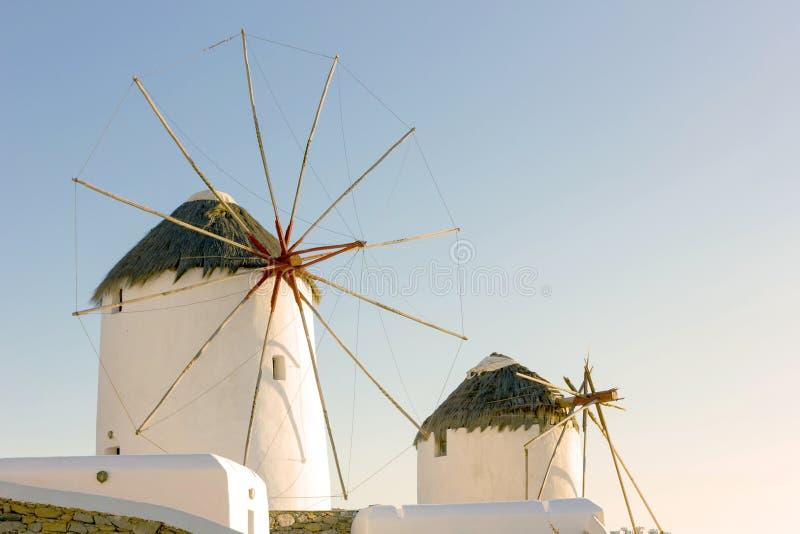 Windmühle in Mykonos-Insel, Griechenland lizenzfreie stockbilder