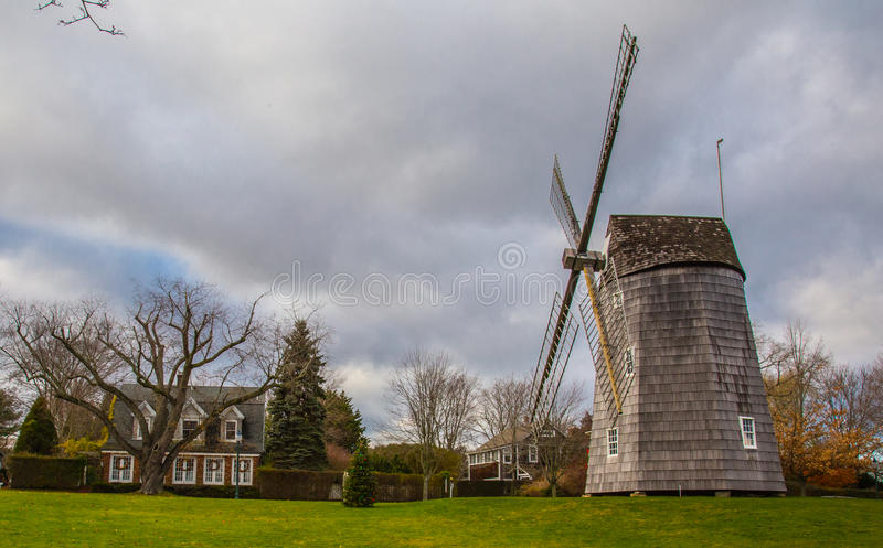 Windmühle in Ost-Hampton New York lizenzfreie stockbilder