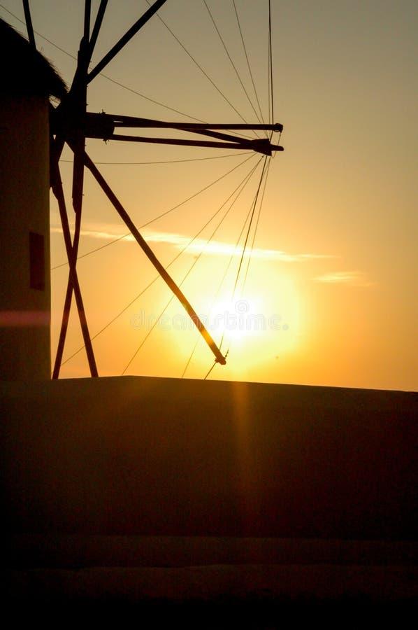 Windmühle von mykonos Insel lizenzfreie stockfotos