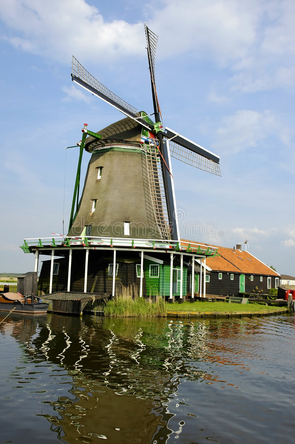 Windmühle in Zaanse Schans stockfotografie