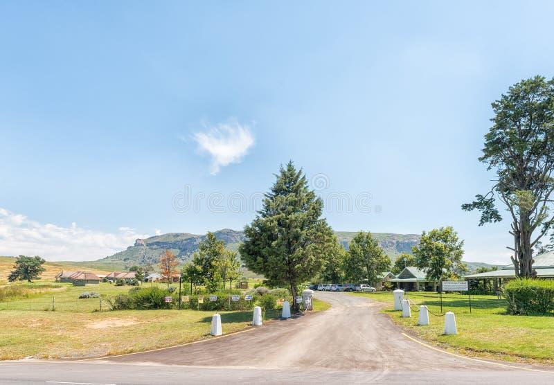 Windmühlen-Bauernhofshop, -restaurant und -Unterkunft bei Oliviershoek stockfoto