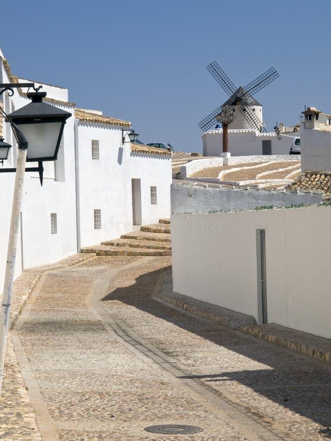 Windmühlen bei Campo de Criptana lizenzfreies stockbild