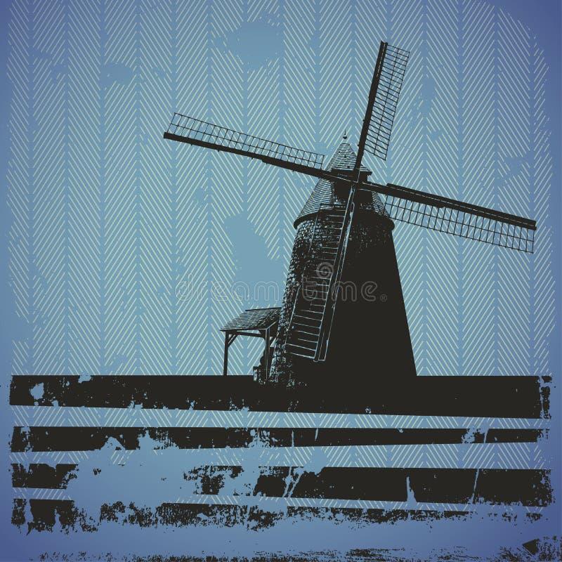 Windmühlen-Fahne stock abbildung