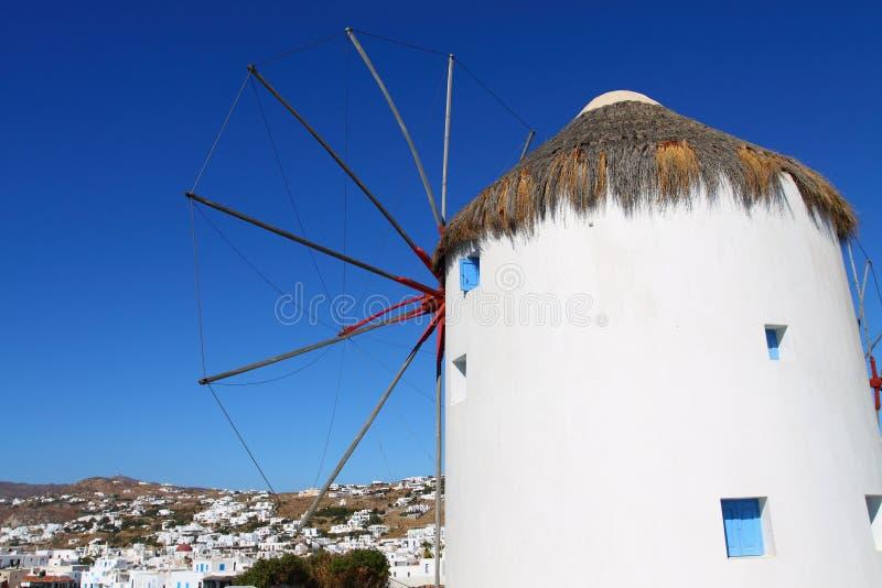 Windmühlen von Mykonos stockbild
