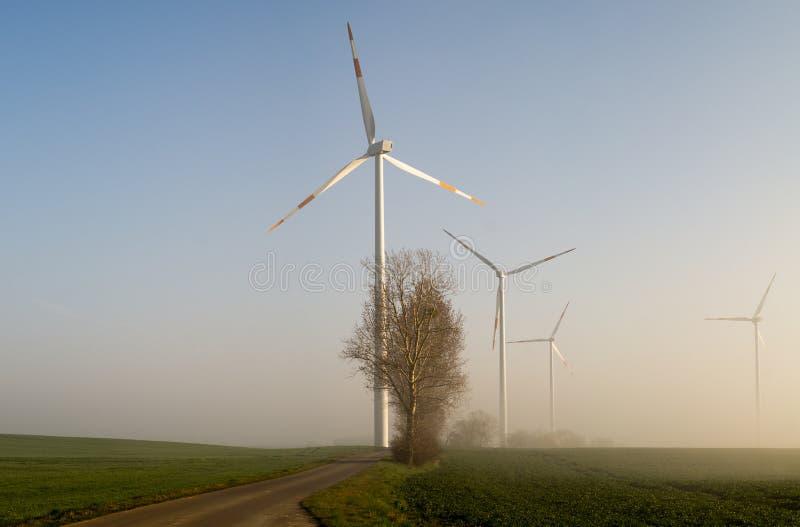 Windmühlen (Windkraftanlagen) lizenzfreies stockfoto