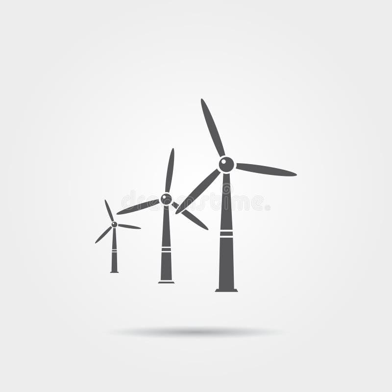 Windmühlenvektorikone stock abbildung