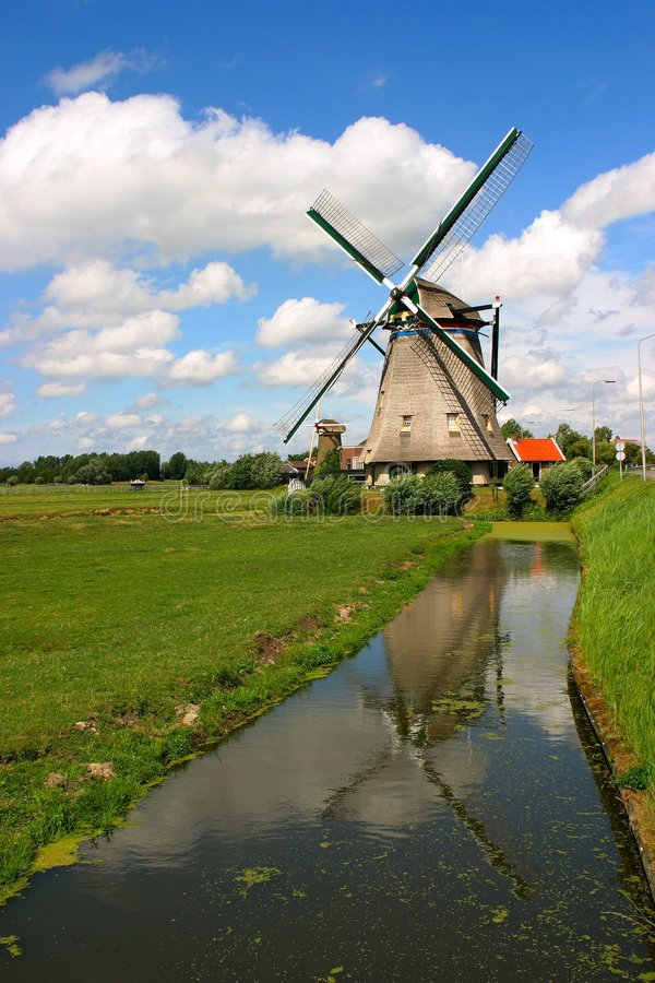 Download Windmill stock photo. Image of river, europe, travel, scenery - 10868