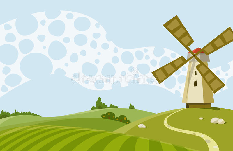 Windmill stock illustration