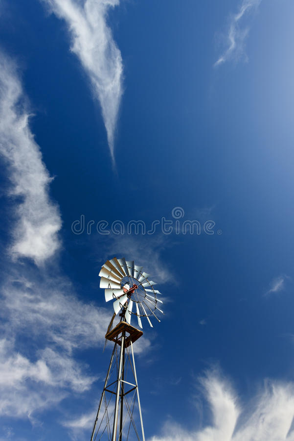 Download Windmill stock image. Image of wind, ranch, pump, blue - 26247201