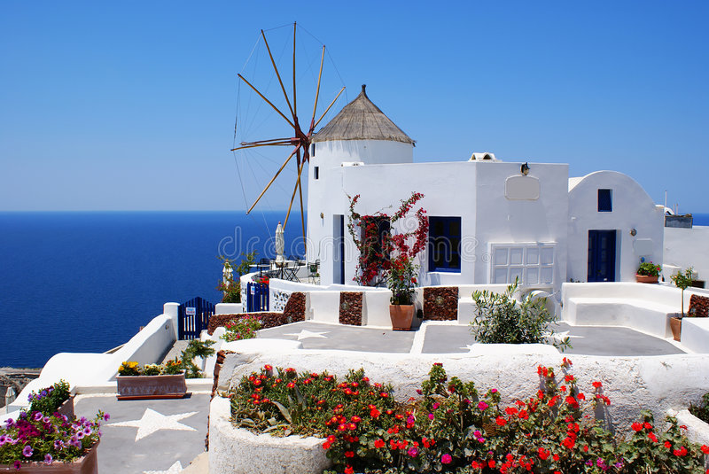Download Windmill stock image. Image of fence, europe, island, house - 2643927