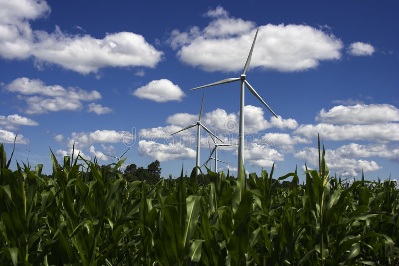 Windmill. Farm for generating electricity stock photos