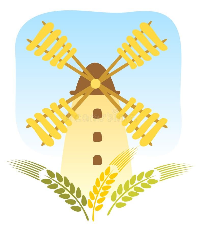 Windmill royalty free illustration