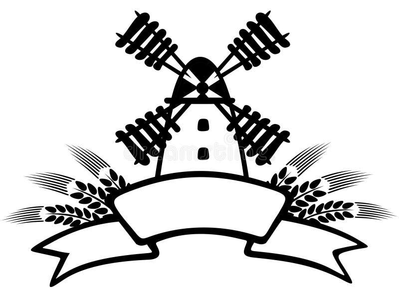 Download Windmill stock vector. Image of wheaten, white, black - 9284528