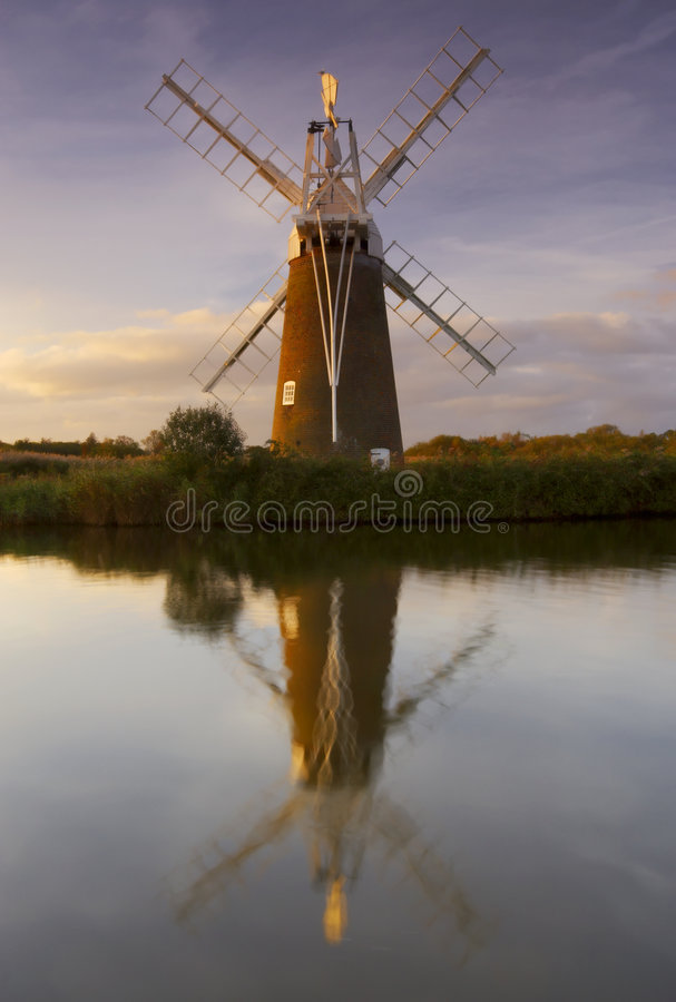 Free Windmill Across The Reeds Stock Photo - 1657280