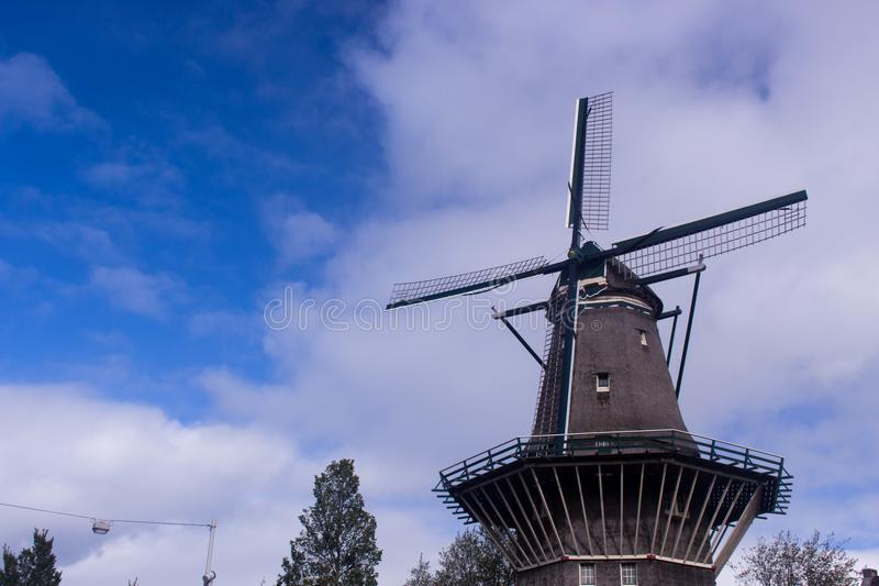 Windmill in Amsterdam stock image