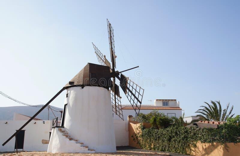 Windmill of Antigua. Beautiful old windmill at the gates of antigua in fuerteventura stock photo
