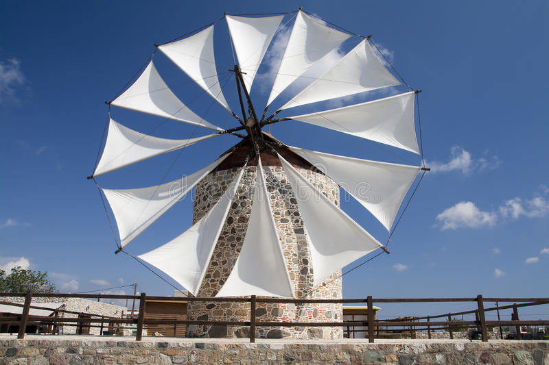 Windmill in Antimahia, Kos stock images