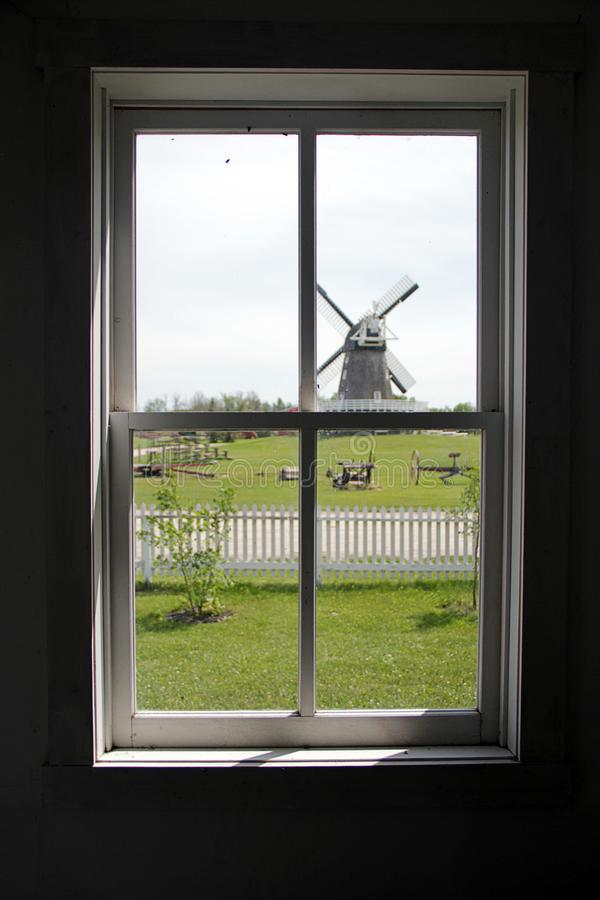 Free Windmill As Seen Through Window Stock Images - 158392744
