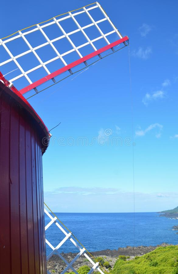 Windmill in the Azores. royalty free stock photography