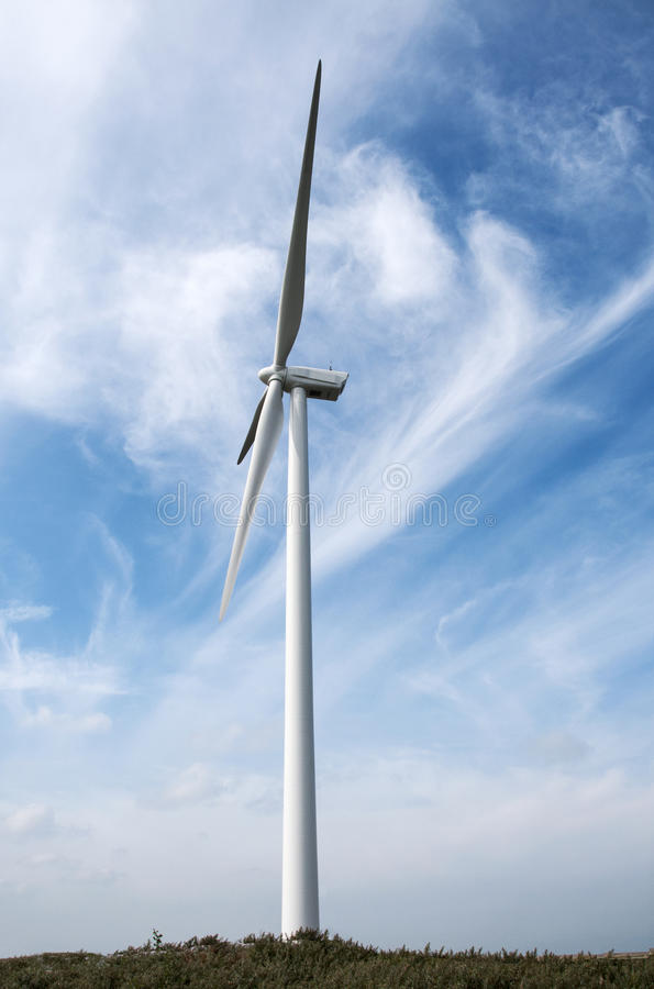 Download Windmill with blue sky stock image. Image of field, environment - 26363813