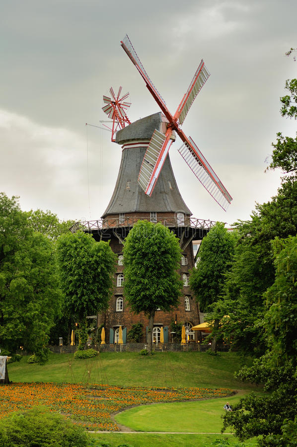 windmill in bremen germany stock image image of architecture bremen 18682475. Black Bedroom Furniture Sets. Home Design Ideas