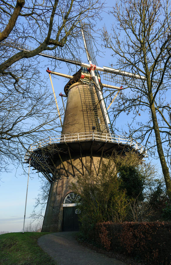 Windmill of Buren, the Netherlands royalty free stock photography