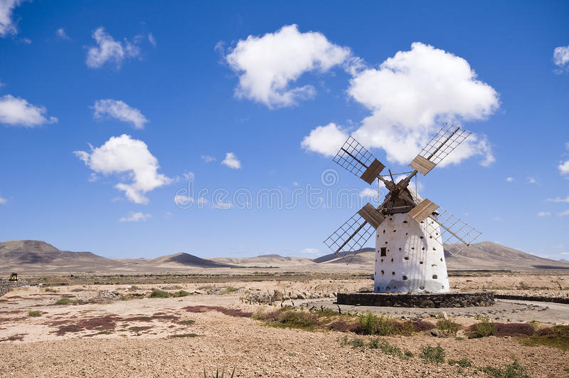 Windmill, Canary Islands royalty free stock images