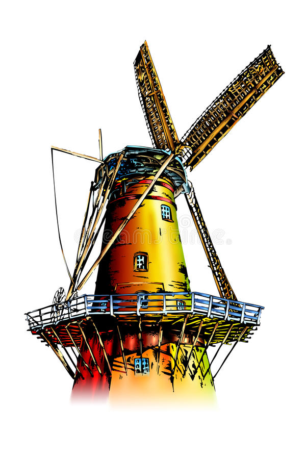 Download Windmill stock illustration. Image of wind, turn, power - 31904264
