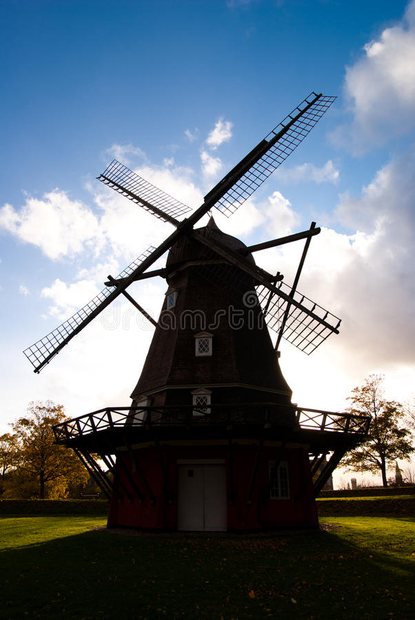 Windmill in Copenhagen royalty free stock photography