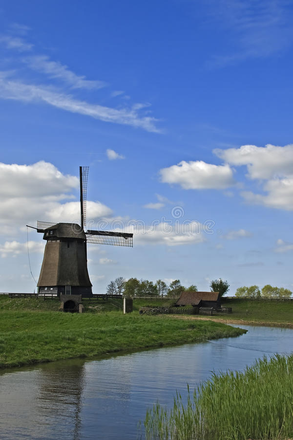 Windmill in countryside royalty free stock images