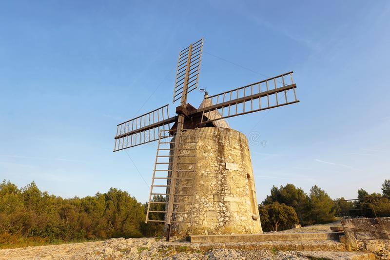 Windmill of Daudet - Fontvieille - Provence, France stock photography