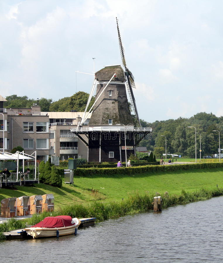 Windmill DE Konijnenbelt in Ommen nederland stock afbeelding