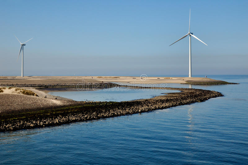 Windmill on a royalty free stock image