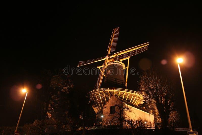 Windmill. A Dutch windmill at night royalty free stock photography