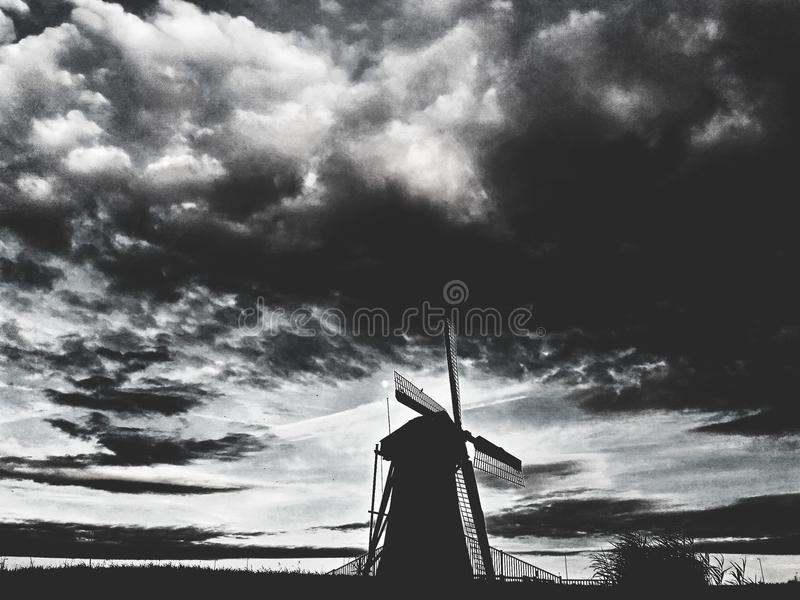 Windmill. Dutchie view of windmill royalty free stock image
