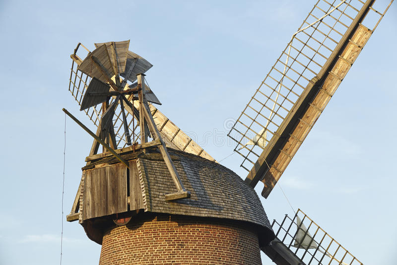 Windmill Eilhausen (Luebbecke, Germany). The windmill Eilhausen (Luebbecke, Germany) is a dutch type of windmill and is part of the Westphalia Mill Street ( royalty free stock images